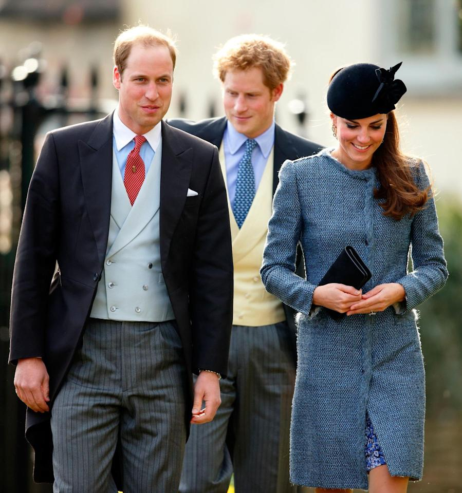 "<p>There's a funny story about this wearing of the coat: Kate wore it to attend the wedding of Lucy Meade and Charlie Budgett, and <a href=""http://www.gettyimages.com/license/481368353"" target=""_blank"">another guest</a> wore the exact same coat. OK, but who wore it better? </p>"