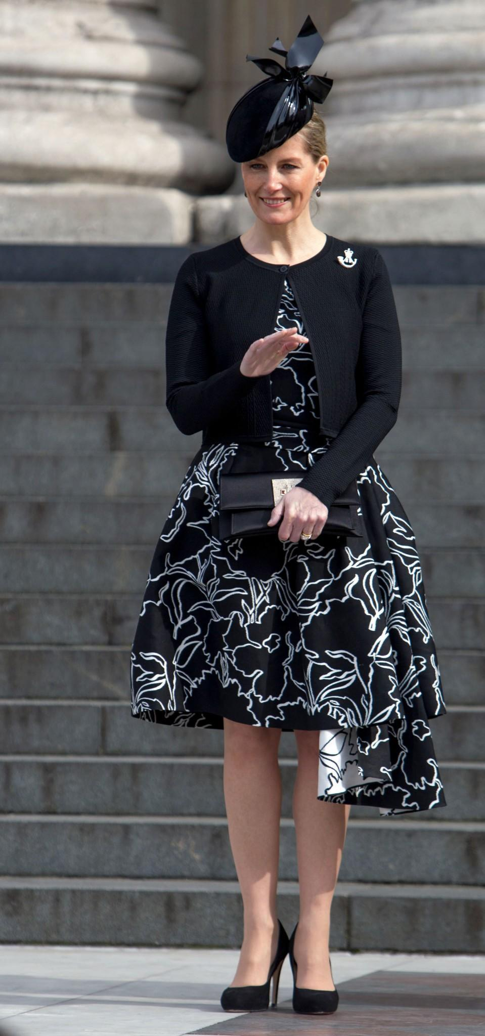 <p>Working this two-tone ensemble on so many levels at St Paul's in March 2015b [Photo: PA] </p>