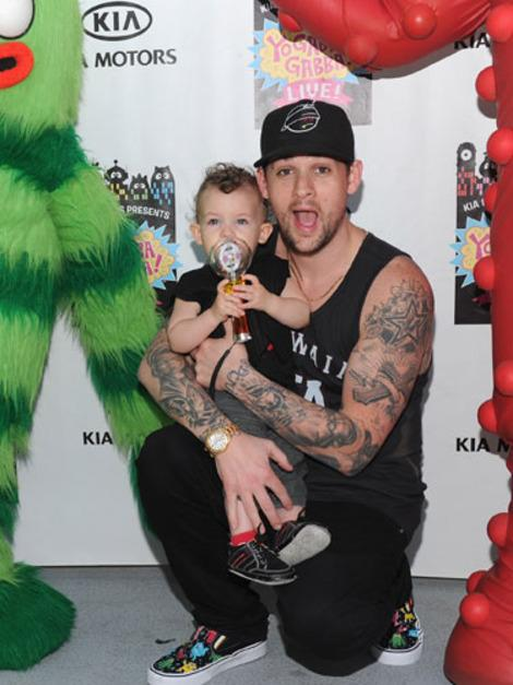 Joel Madden with Sparrow James Midnight Madden