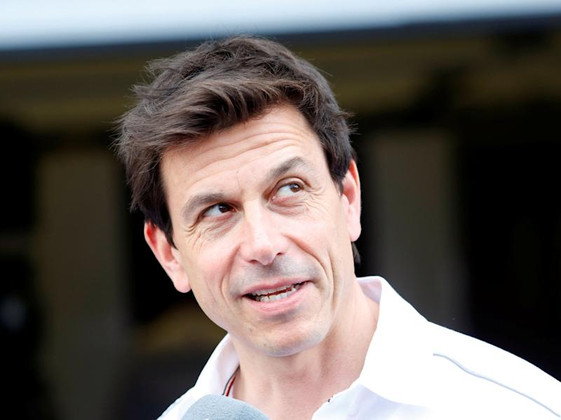 Mercedes Executive Director Toto Wolff during practice: REUTERS