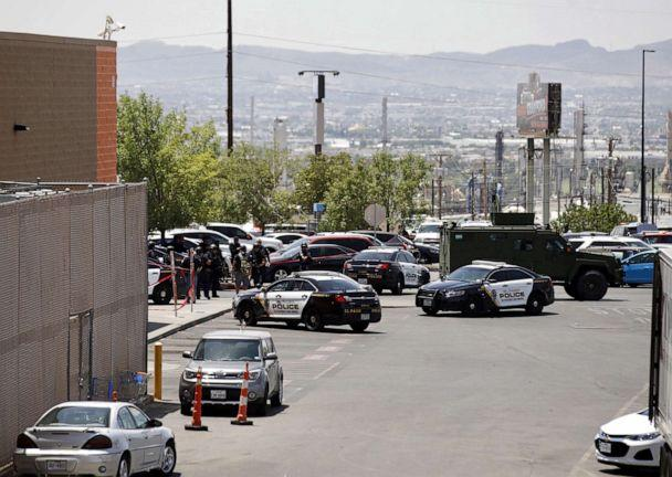 PHOTO: Police stand at attention during a shooting at a Walmart in El Paso, Texas, Aug. 3, 2019. (Ivan Pierre Aguirre/epa-efe/rex/Ivan Pierre Aguirre/EPA-EFE/REX)