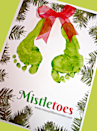 "<p>Paint little feet green to make this ""misteltoes"" craft. Make it your own using any cardstock or canvas. Or use this free printable backdrop for a readymade card you can make in multiples to share with loved ones.</p><p><em><a href=""https://www.messylittlemonster.com/2017/12/christmas-mistletoes-footprint-keepsake-printable.html"" rel=""nofollow noopener"" target=""_blank"" data-ylk=""slk:Get the tutorial at Messy Little Monster»"" class=""link rapid-noclick-resp"">Get the tutorial at Messy Little Monster»</a></em></p>"