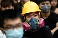 The protesters want the city's leader and all its lawmakers to be directly elected, scrapping the current system that heavily favours Beijing-backed candidates (AFP Photo/Philip FONG)