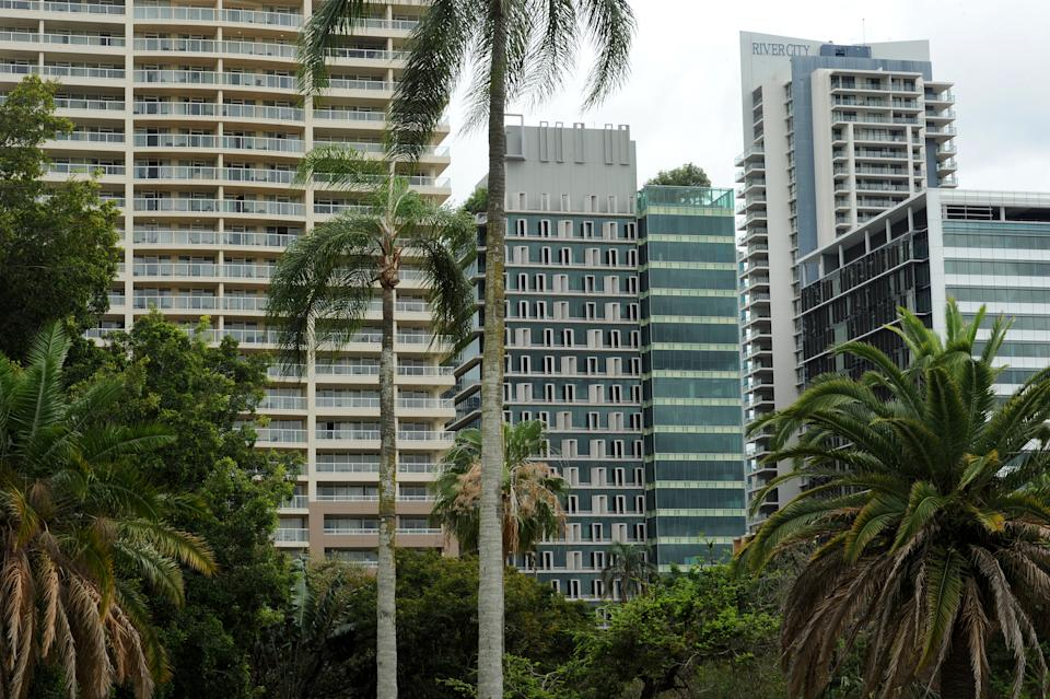 High rise buildings in the central business district of Brisbane, Monday, Oct. 1, 2012. (AAP Image/Dave Hunt)