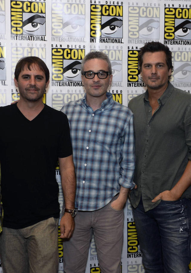 """Sleepy Hollow"" Executive Producers Roberto Orci, Alex Kurtzman and Len Wiseman on Friday, July 19 at the Fox Fanfare At San Diego Comic-Con 2013."