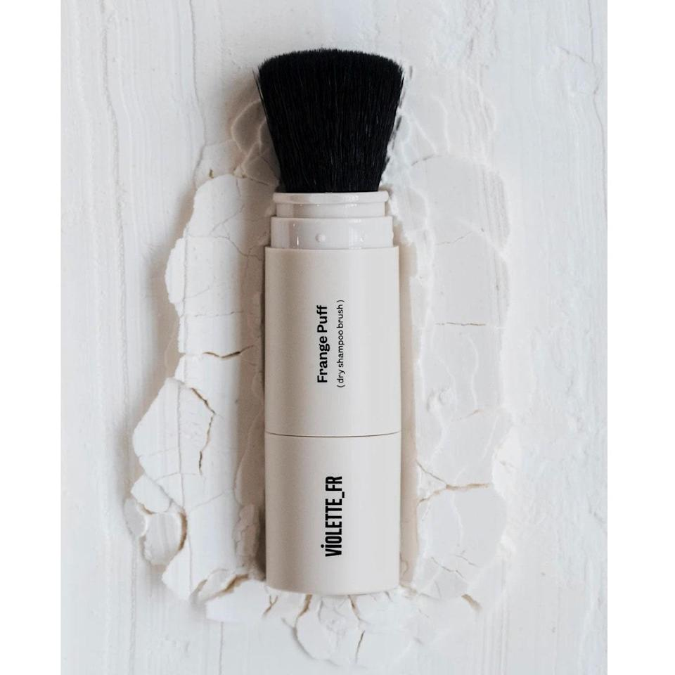 "When cool-girl makeup artist Violette created her product line, sustainability was front of mind—both in terms of packaging, and the fact that every single product had to fill a complete white space on the market. And so, the Frange Puff, a brush-on dry shampoo powder was born. The compact brush is perfect to toss in your bag to re-fluff bangs though the day, or give clean hair that perfect lived-in grit. $34, Violette_FR. <a href=""https://www.violettefr.com/collections/shop/products/frange-puff?variant=39455046435005"" rel=""nofollow noopener"" target=""_blank"" data-ylk=""slk:Get it now!"" class=""link rapid-noclick-resp"">Get it now!</a>"