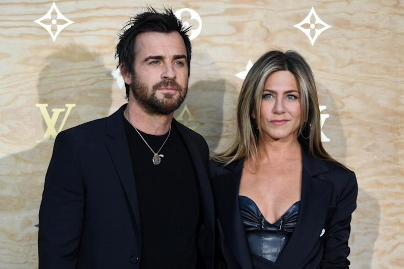Justin Theroux and Jennifer Aniston revealed they separated quietly: AFP/Getty Images