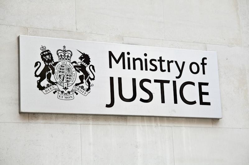 London, United Kingdom - September 3, 2011: Plate at the entrance of the UK Ministry of Justice. The Ministry of Justice is a ministerial department of the UK Government who is responsible for improvements to the justice system.