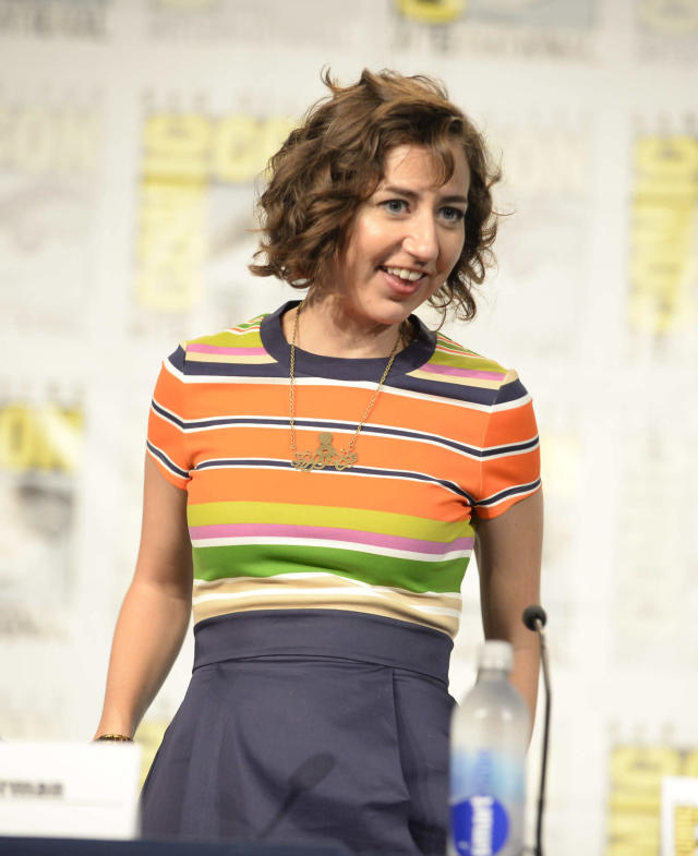 "Kristen Schaal talks to fans during the ""Bob's Burgers"" panel on Friday, July 19 during Fox Fanfare At San Diego Comic-Con 2013."