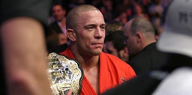 Georges St-Pierre with his UFC belt