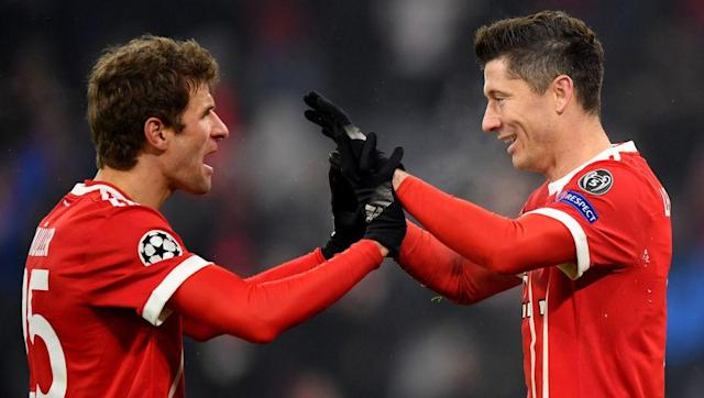 Bayern Munich produced a strong display to beat Besiktas 5-0 at home in the first leg of their Champions League round of 16 tie. The away side suffered an early blow when Domagoj Vida got a straight red for denying Robert Lewandowski a goal scoring opportunity in the 16th minute. The Bavarians took advantage eventually and went 1-0 up late in the first half thanks to Thomas Muller. A rampant Bayern then struck four more times against 10-man Besiktas in the second-half. Goals from Kingsley...