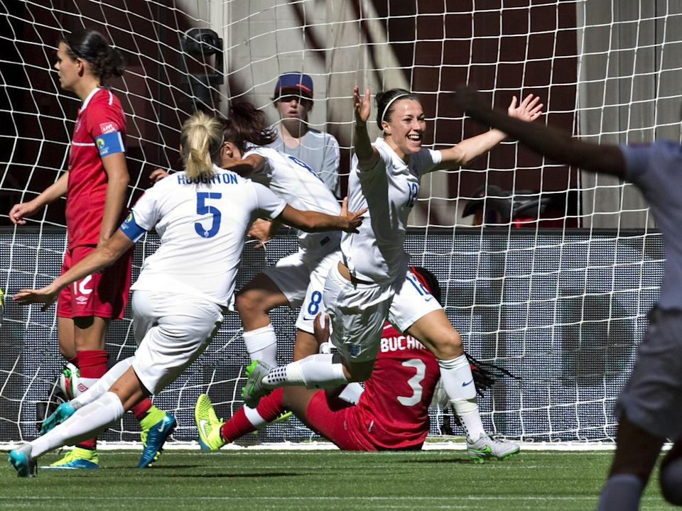 <p>England and Man City's Lucy Bronze is nominated</p>AFP