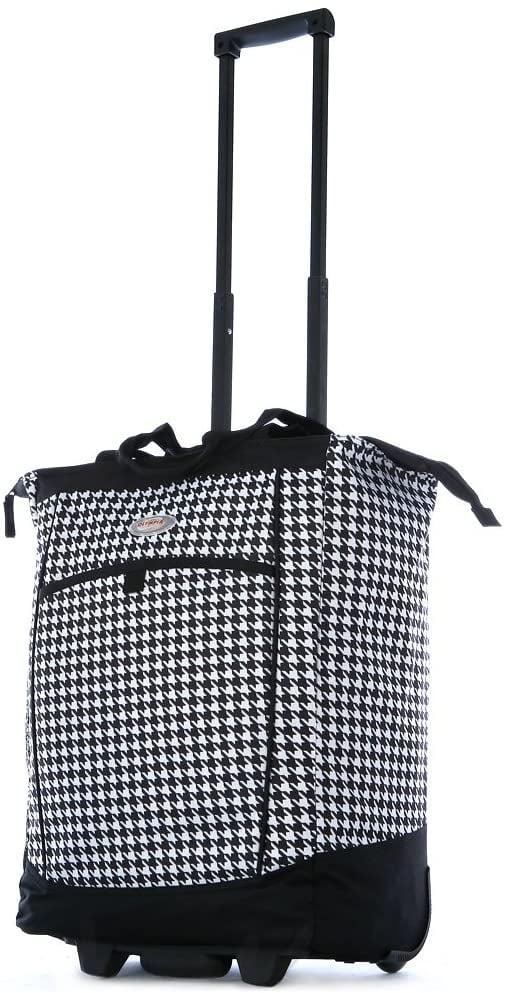 <p>If you have a heavy load, toss it in this <span>Olympia Fashion Rolling Shopper Tote</span> ($34).</p>