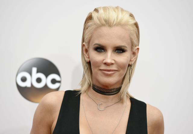 Jenny McCarthy in 2016 with blond hair.  (Photo by Jordan Strauss/Invision/AP, File)