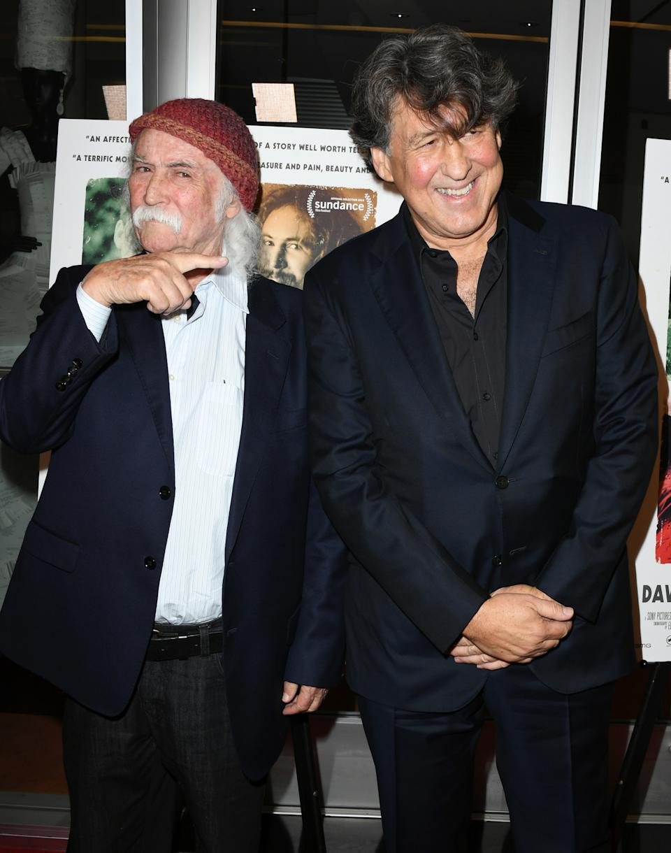 David Crosby and Cameron Crowe at the premiere of 'David Crosby: Remember My Name' on July 18, 2019 in Los Angeles. (Photo: Jon Kopaloff/Getty Images)