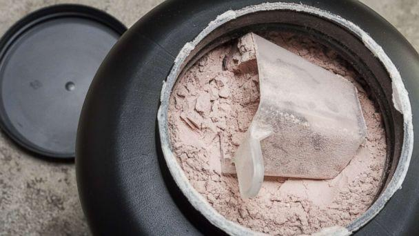 PHOTO: A scoop of fine whey protein powder sits in a container in an undated stock photo. (Shutterstock)