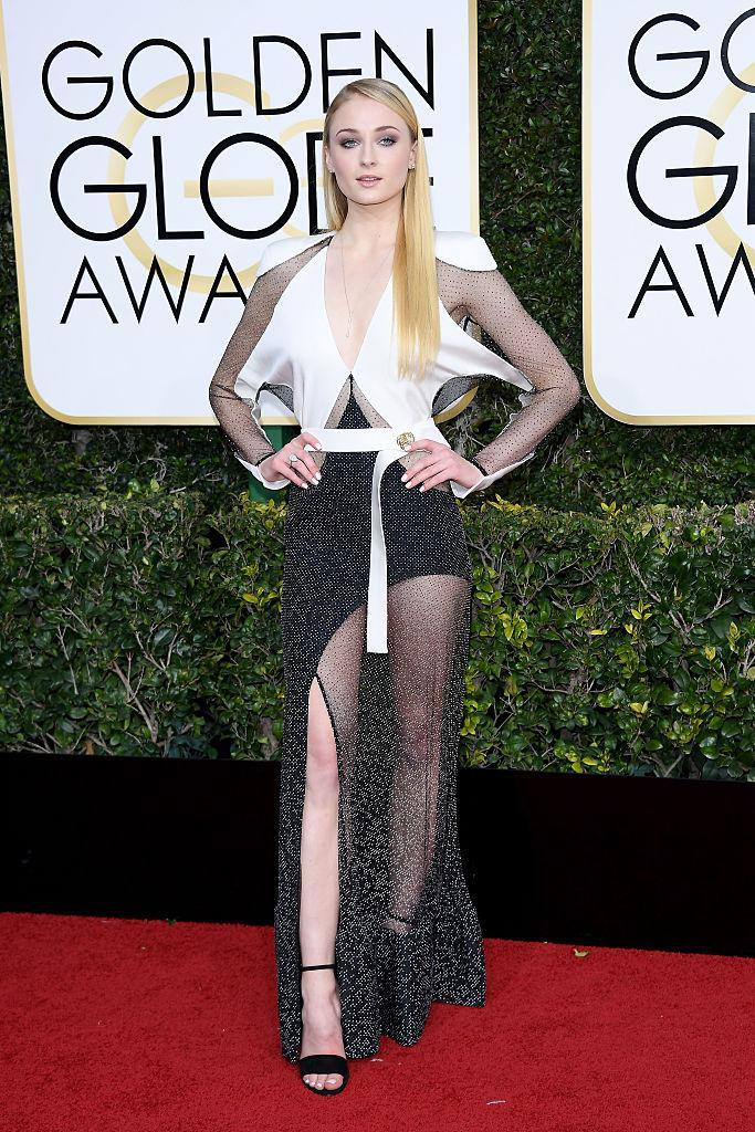 Sophie Turner in Louis Vuitton. (Photo: Getty Images)
