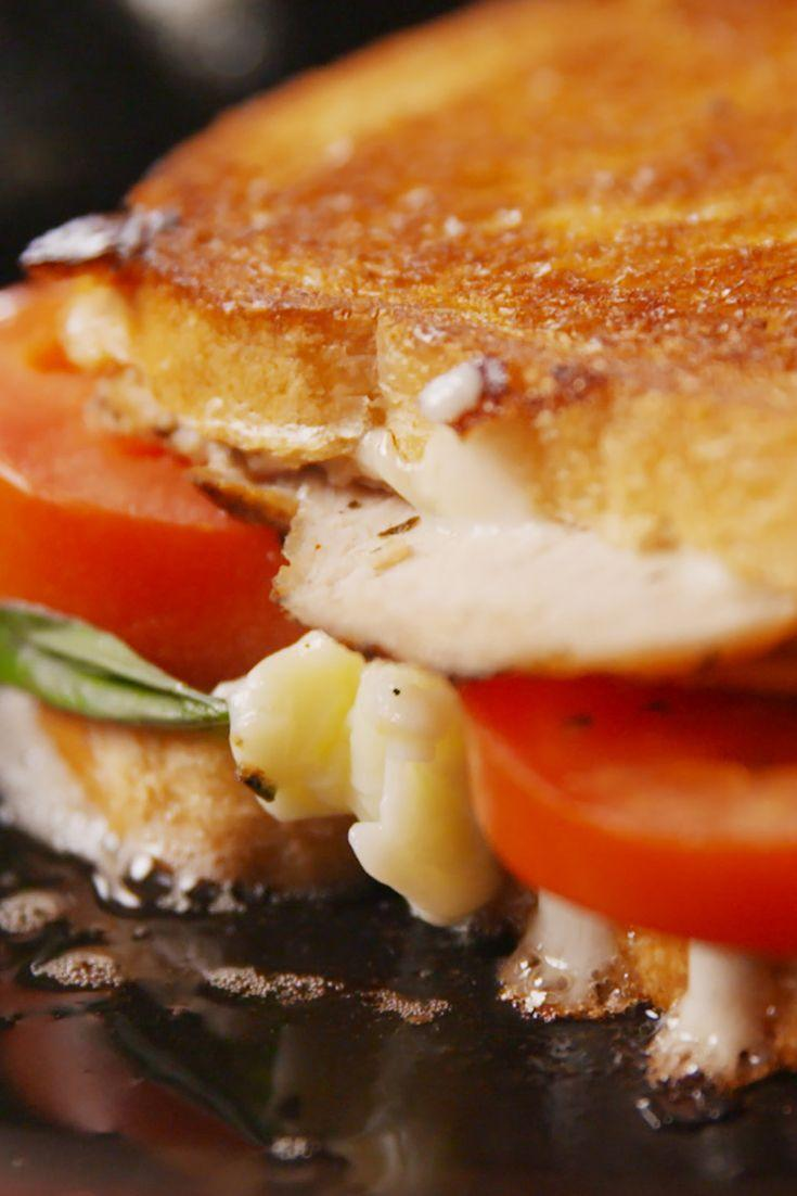 """<p>Your grilled cheese is getting an Italian makeover.</p><p>Get the recipe from <a href=""""/cooking/recipe-ideas/recipes/a52227/caprese-chicken-grilled-cheese-sandwich-recipe/"""" data-ylk=""""slk:Delish"""" class=""""link rapid-noclick-resp"""">Delish</a>.</p>"""