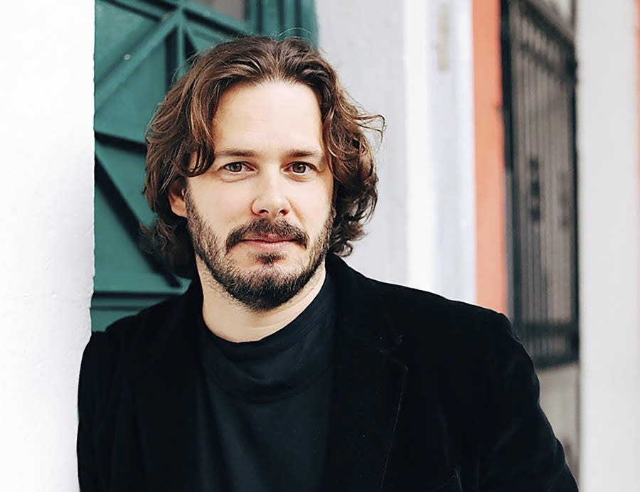 """This image released by the Sundance Institute shows Edgar Wright, director of """"The Sparks Brothers,"""" an official selection of the Premieres section at the 2021 Sundance Film Festival. (Adrienne Pitts/Sundance Institute via AP)"""