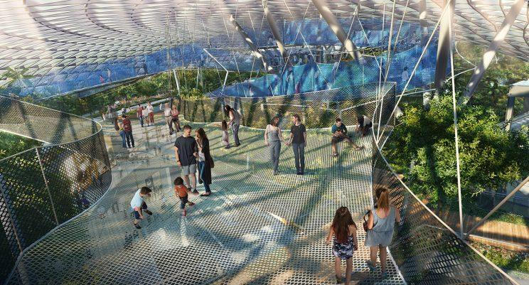 Sky Nets play attraction. (Photo: Jewel Changi Airport Devt.)
