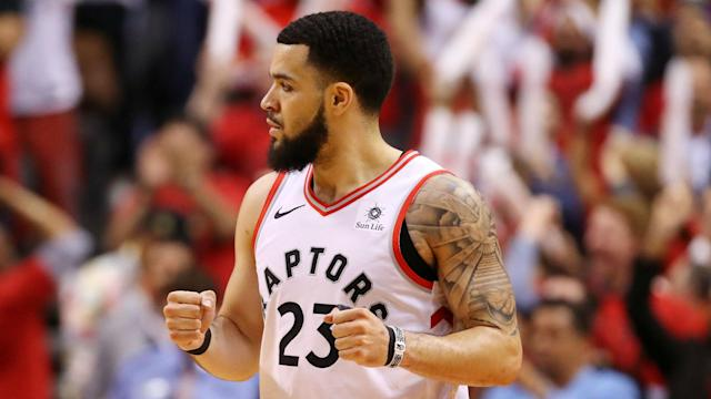 Fred VanVleet flew to see his second child born on Monday, and then inspired the Toronto Raptors to a crucial victory on Tuesday.