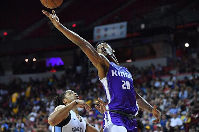 "<a class=""link rapid-noclick-resp"" href=""/nba/players/5833/"" data-ylk=""slk:Harry Giles"">Harry Giles</a> will finally see the floor after sitting out the entire 2017-18 season rehabbing his right knee. (Getty)"