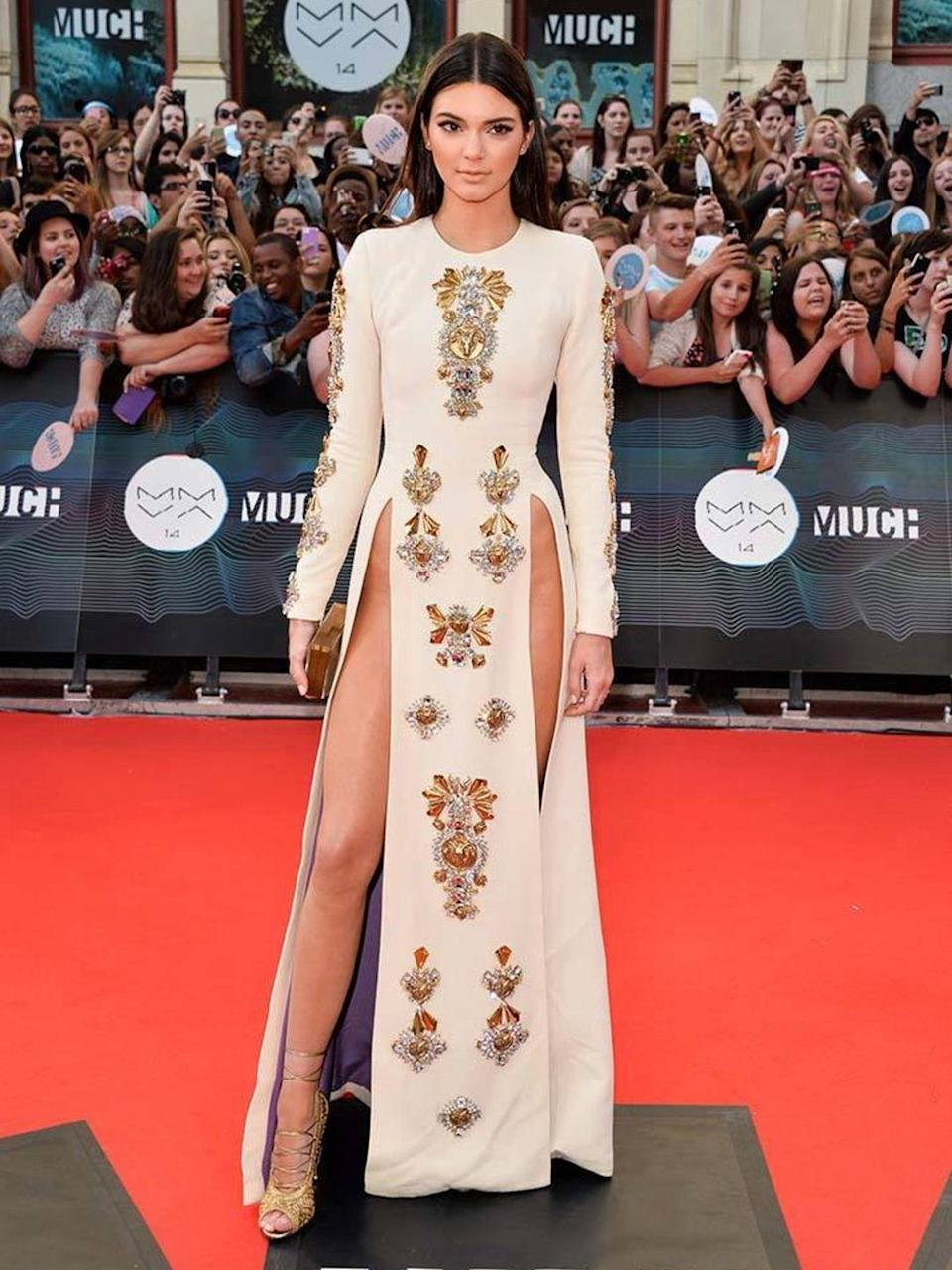 <p>In Fausto Puglisi a/w 2013 at the 2014 MuchMusic Video Awards.</p>