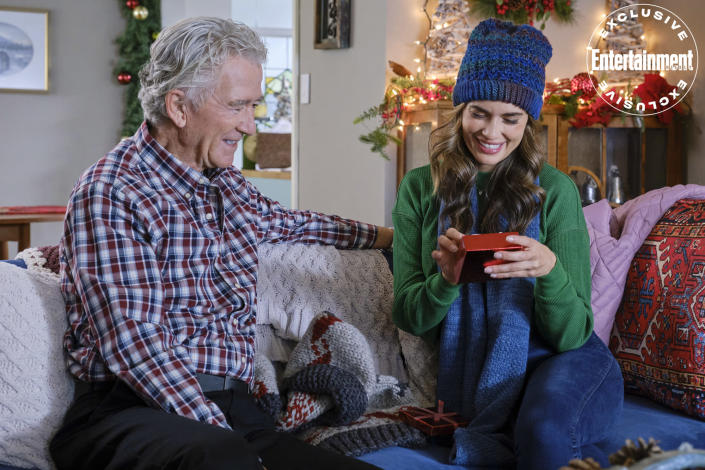 """<p><strong>Premieres:</strong> Oct. 30, 10 p.m. ET/PT, Hallmark Movies & Mysteries</p> <p><strong>Stars:</strong> Torrey DeVitto, Dylan Bruce, Patrick Duffy</p> <p><strong>Contains:</strong> A new twist on the widow/widower protagonist, carpentry</p> <p><strong>Official description:</strong> """"Nicole learns to deal with grief, with the help of her grandfather and a carpenter she hires to renovate the home that was once meant for her and her fiancé.""""</p>"""