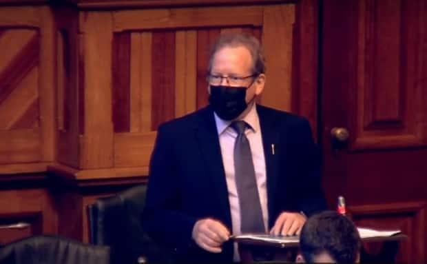 Chiasson spoke in the New Brunswick Legislature on Friday while experiencing chest pains he'd later find out were the early signs of a heart attack.