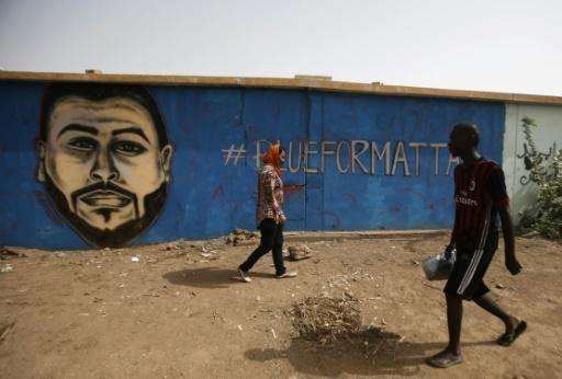 A mural on the wall of a north Khartoum youth club commemorates Mohamed Mattar, one of dozens of demonstrators killed in a June 3 raid on a longunning protest camp outside army headquarters