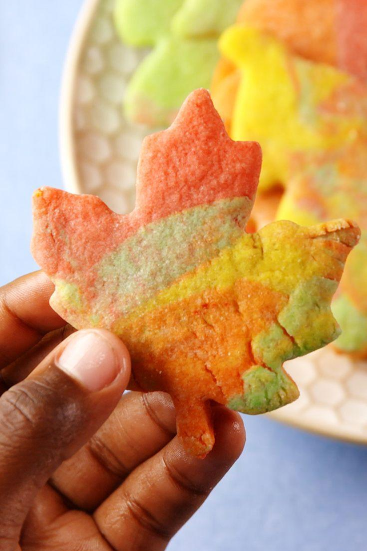 """<p>Cookies that embrace the beauty of fall.</p><p>Get the recipe from <a href=""""https://www.delish.com/cooking/recipe-ideas/recipes/a56046/leaf-cookies-recipe/"""" rel=""""nofollow noopener"""" target=""""_blank"""" data-ylk=""""slk:Delish"""" class=""""link rapid-noclick-resp"""">Delish</a>. </p>"""