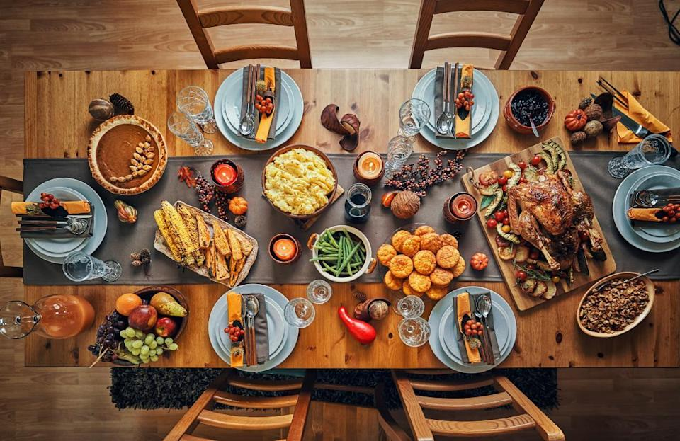 """<p>There's no right or wrong answer when it comes to how many sides one should make for Thanksgiving. <a href=""""https://www.thedailymeal.com/holidays/thanksgiving-side-dishes-ranking?referrer=yahoo&category=beauty_food&include_utm=1&utm_medium=referral&utm_source=yahoo&utm_campaign=feed"""" rel=""""nofollow noopener"""" target=""""_blank"""" data-ylk=""""slk:Sides are the best part of the meal"""" class=""""link rapid-noclick-resp"""">Sides are the best part of the meal</a>, after all. If you're only hosting four guests, it may feel excessive to make mashed potatoes, stuffing, green bean casserole, sweet potato casserole, Brussels sprouts, corn and rolls in addition to your turkey and gravy. Thanksgiving is a holiday that is all about traditions, so prioritize the sides that are the most important to you and your guests and <a href=""""https://www.thedailymeal.com/cook/every-thanksgiving-side-dish-youll-ever-need-gallery?referrer=yahoo&category=beauty_food&include_utm=1&utm_medium=referral&utm_source=yahoo&utm_campaign=feed"""" rel=""""nofollow noopener"""" target=""""_blank"""" data-ylk=""""slk:the best-ever Thanksgiving side dish recipes"""" class=""""link rapid-noclick-resp"""">the best-ever Thanksgiving side dish recipes</a>.</p>"""