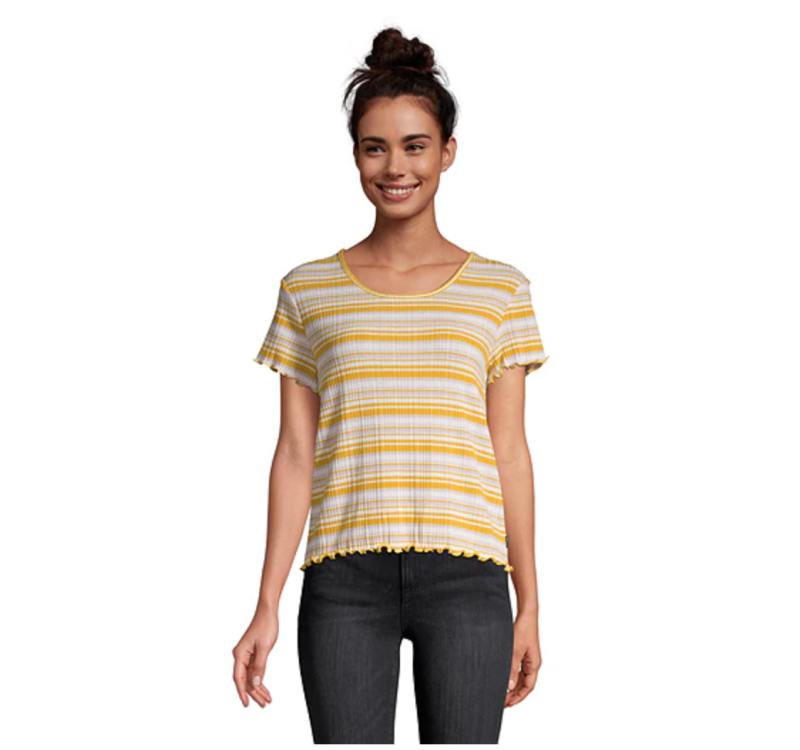 Women's Raza Striped T Shirt. Image via Sport Chek.