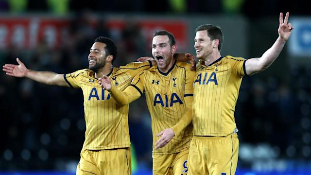 Chelsea hold a seven-point lead with eight games remaining but Tottenham's Jan Vertonghen has vowed to carry the Premier League title fight.