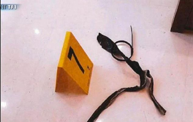 Pictured is a gag believed to have been used to silence the mother-of-two during the ordeal. Source: TF1