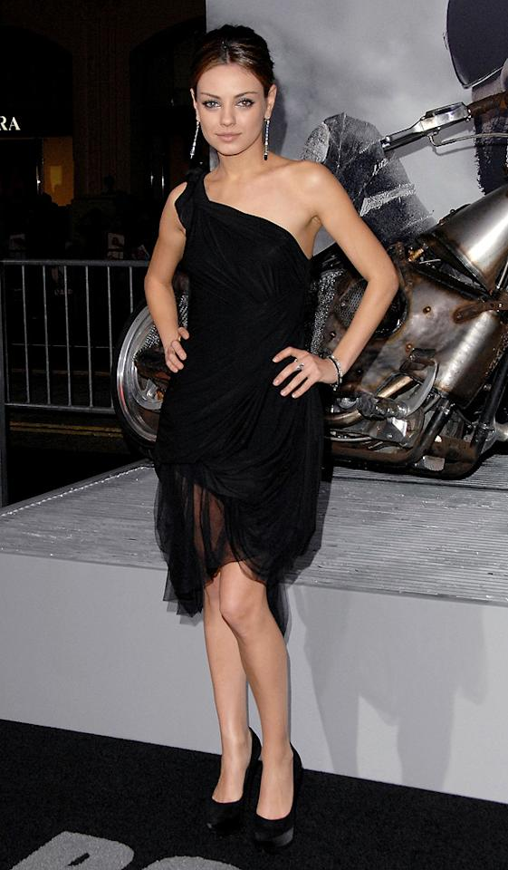 """<a href=""""http://movies.yahoo.com/movie/contributor/1800281432"""">Mila Kunis</a> at the Los Angeles premiere of <a href=""""http://movies.yahoo.com/movie/1810067275/info"""">The Book of Eli</a> - 01/11/2010"""
