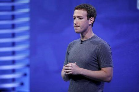 FILE PHOTO - Facebook CEO Mark Zuckerberg speaks on stage during the Facebook F8 conference in San Francisco, California April 12, 2016. REUTERS/Stephen Lam