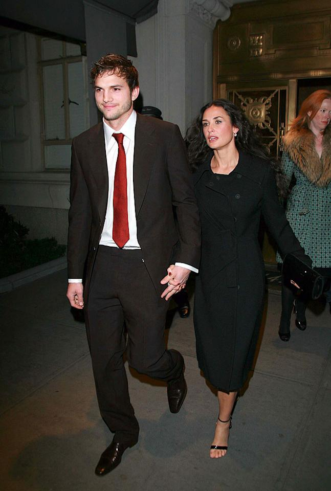 """Ashton Kutcher and Demi Moore celebrated the """"Punk'd"""" star's 30th birthday Thursday with a dinner at the Bowery Hotel, followed by a party at club Socialista. <a href=""""http://www.infdaily.com"""" target=""""new"""">INFDaily.com</a> - February 7, 2008"""
