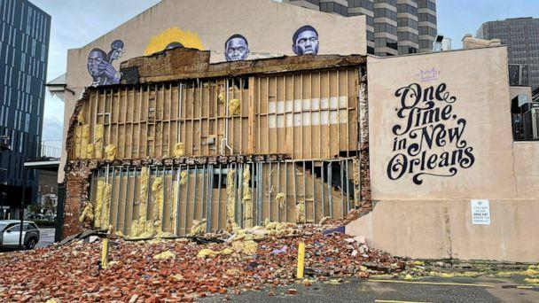 PHOTO: The Karnofsky shop is pictured on Aug. 30, 2021, showing severe damage after Hurricane Ida pummeled New Orleans with strong winds.   (Devika Krishna Kumar/Reuters)