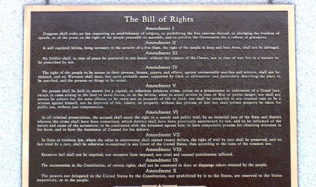 The Bill of Rights (Image: Wikimedia Commons)