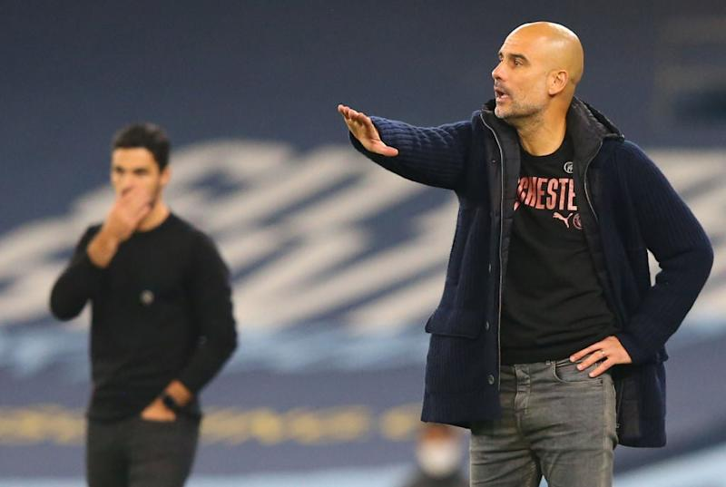 Pep Guardiola praised City's win over Arsenal (POOL/AFP via Getty Images)