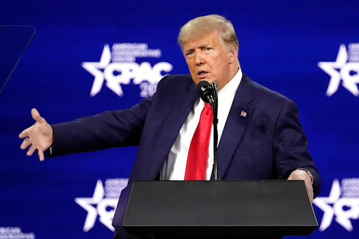 <p>Donald Trump hinted at CPAC that he may run again in 2024, but his niece Mary doubts it.</p> (AP)