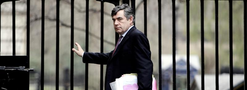 Gordon Brown leaves Downing Street after a Cabinet meeting in 2007.