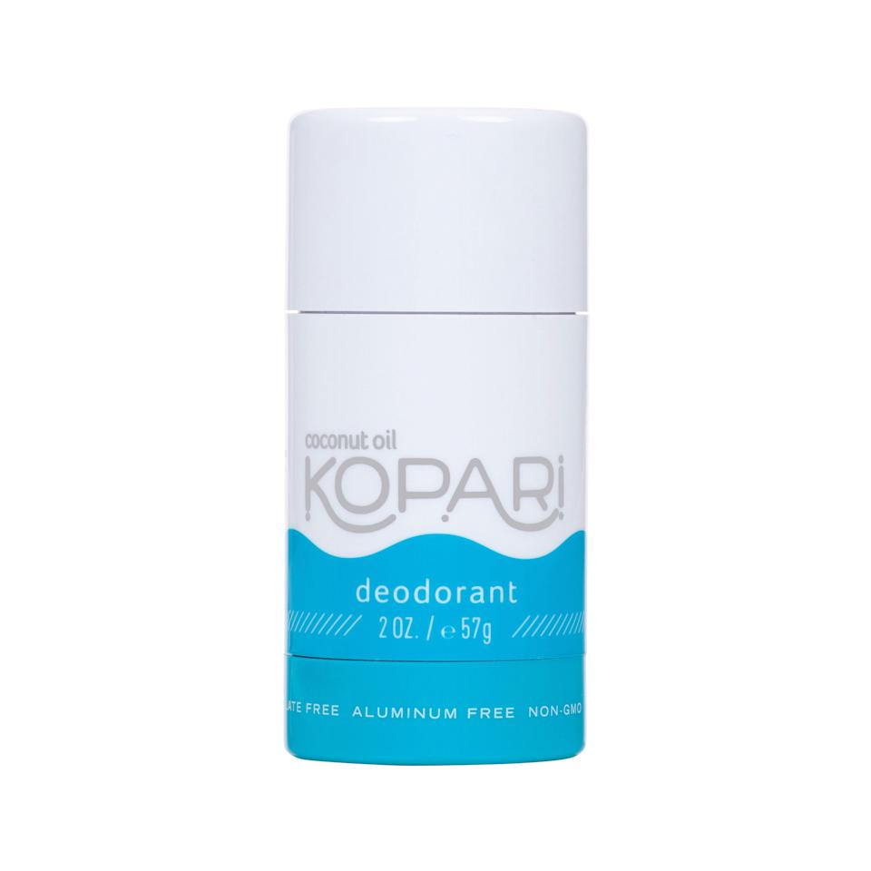 """<p>""""My two-year search for a natural deodorant ended, surprisingly, with this coconut oil-infused option from Kopari. To be honest, I was skeptical at first. How was something made with oil and that smells like coconut going to work on someone as sweaty as me? Not to mention that it feels a little wet and slippery to the touch. But I've been pleasantly surprised at how effective it is at keeping sweat and stickiness at bay. It's not a miracle worker, so after a full eight-hour day at work I could definitely use a reapplication (and maybe could have used one an hour or two earlier). But in general, for me, it works better than any natural deodorant I've tried. And I'm not the only one who says so, apparently. In addition to a five-star rating on Sephora, the brand says it's having a hard time keeping the tubes in stock."""" <em>—Sophia Panych, former deputy digital beauty director</em></p> <p><strong>$14</strong> (<a href=""""https://shop-links.co/1634337781850123760"""" rel=""""nofollow noopener"""" target=""""_blank"""" data-ylk=""""slk:Shop Now"""" class=""""link rapid-noclick-resp"""">Shop Now</a>)</p>"""