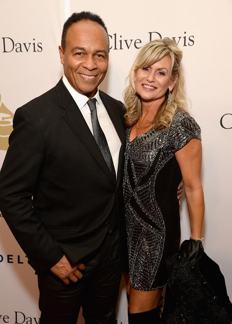LOS ANGELES, CA - FEBRUARY 11: Recording artist Ray Parker Jr. (L) and Elaine Parker attend Pre-GRAMMY Gala and Salute to Industry Icons Honoring Debra Lee at The Beverly Hilton on February 11, 2017 in Los Angeles, California. (Photo by Michael Kovac/WireImage)