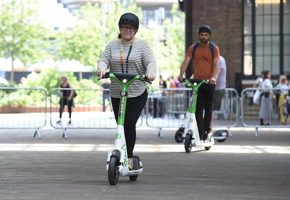 Lime Gen4 e-scooters (PA Wire)
