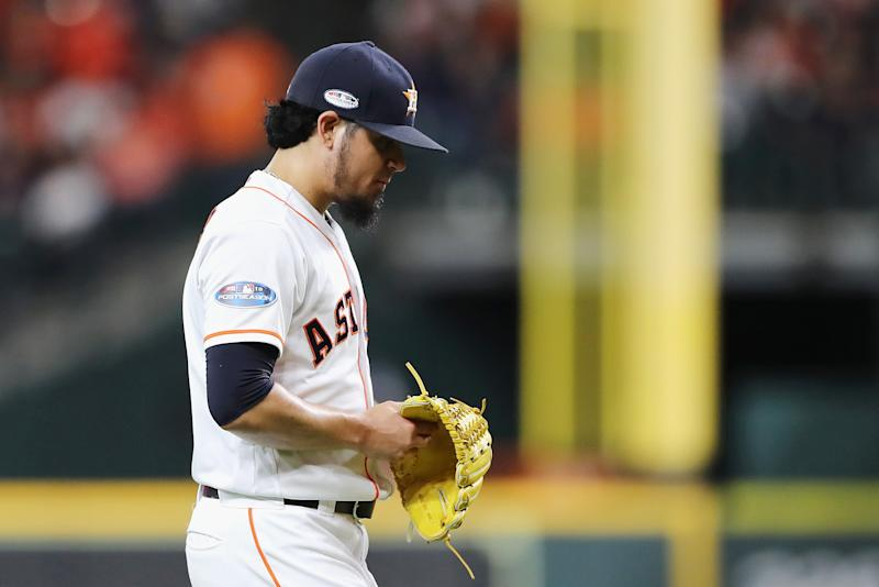 Astros possibly caught cheating in ALCS Game 1