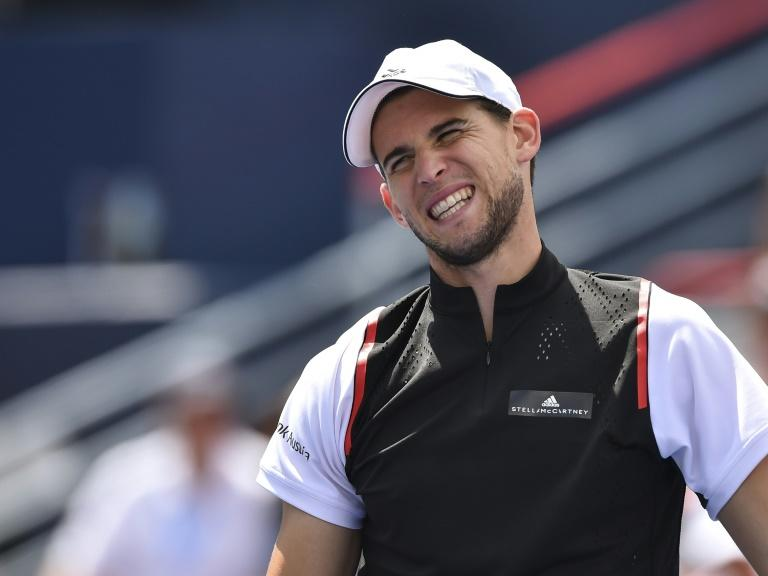 Second seed Dominic Thiem reacts Friday after losing a point against Russian eighth seed Daniil Medvedev who beat the Austrian to reach the ATP Montreal semi-finals