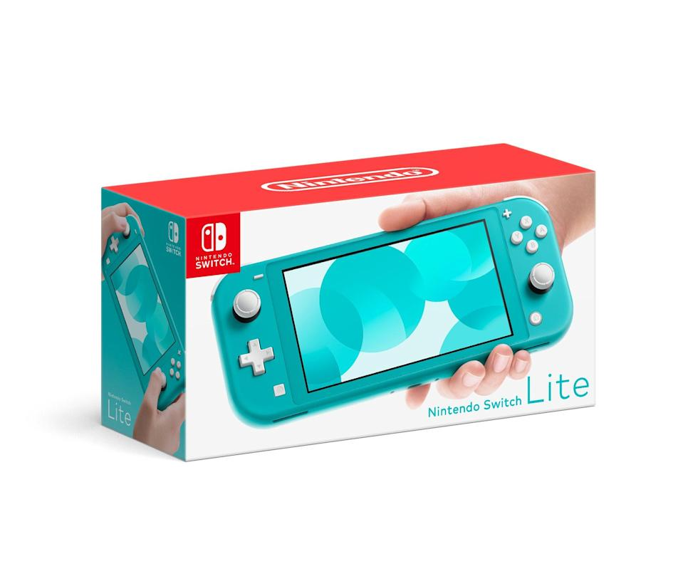"<h2>Nintendo Switch Lite Console</h2><br>Give the gift of entertainment this season. Let's face it: we're all bored in the house. <br><br><strong>Nintendo</strong> Nintendo Switch Lite Console, $, available at <a href=""https://go.skimresources.com/?id=30283X879131&url=https%3A%2F%2Ffave.co%2F3lHz1aT"" rel=""nofollow noopener"" target=""_blank"" data-ylk=""slk:Walmart"" class=""link rapid-noclick-resp"">Walmart</a>"