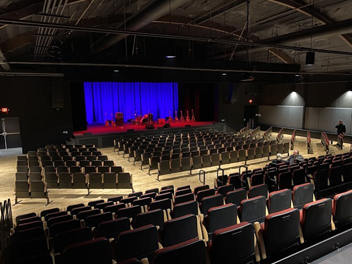 "Interior view of the $6.3-million Center for the Arts in Grass Valley. Before the center's multimillion-dollar renovation, the nearest arts venue was a 60-mile drive to Sacramento. <span class=""copyright"">(Melissa Clark)</span>"